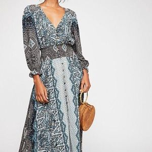 FREE PEOPLE Mexicali Printed Rayon Maxi Size Small